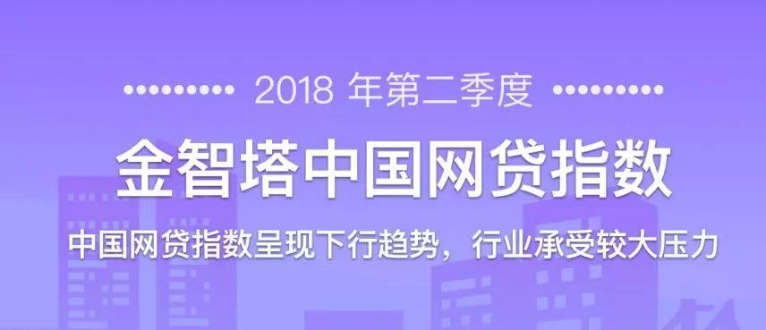 2018年第二季度金智塔中国网贷指数:呈现下行趋势,行业承受较大压力