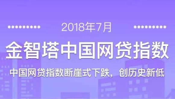 2018年7月金智塔中国网贷指数:断崖式下跌,创历史新低