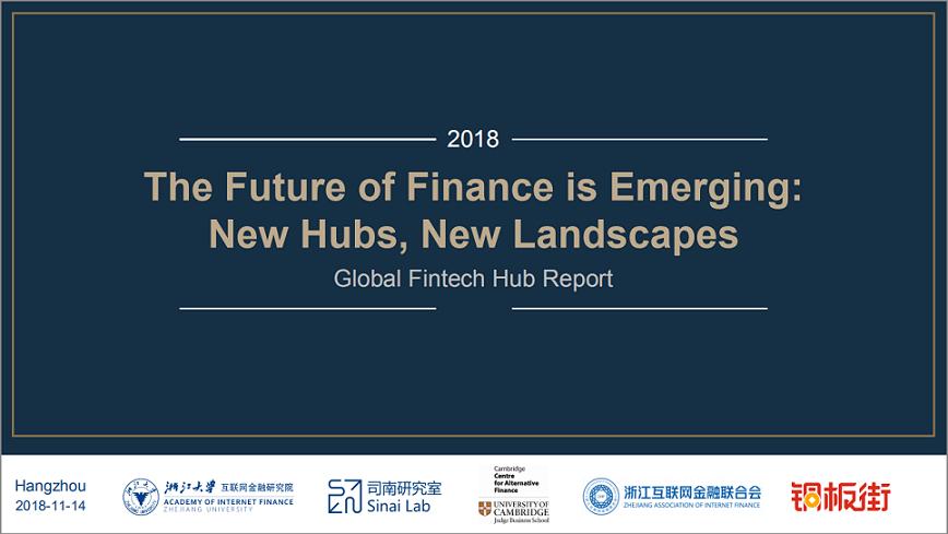 2018 Global Fintech Hub Report