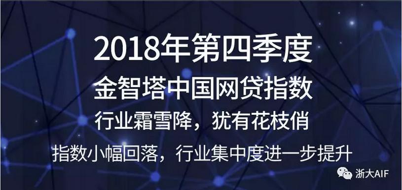 中国网贷指数第四季度小幅回落,行业集中度进一步提升